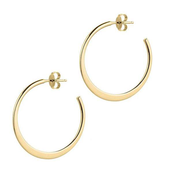 La GRADUATA Silver - The Hoop Station 925 Sterling Silver Hoop Earrings Gold Huggies