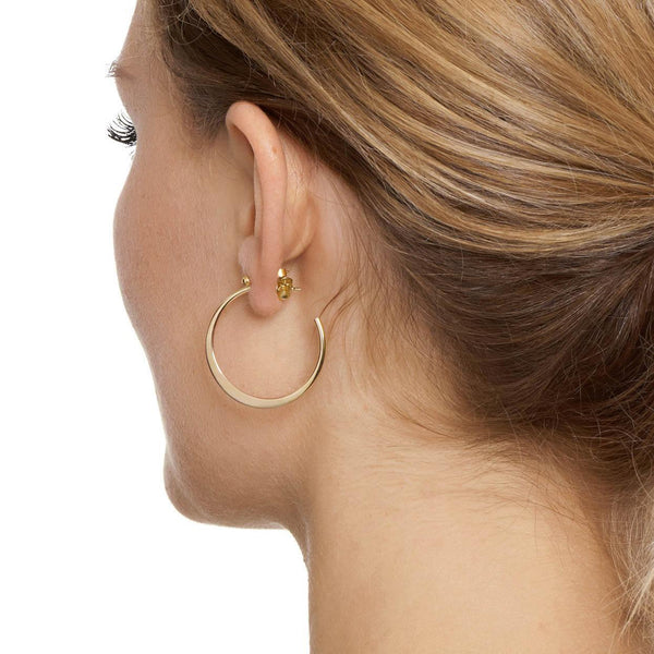 La GRADUATA - The Hoop Station 925 Sterling Silver Hoop Earrings Gold Huggies