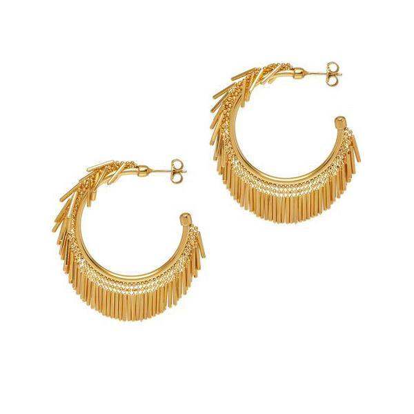 La HULA HULA Hoops - The Hoop Station 925 Sterling Silver Hoop Earrings Gold Huggies