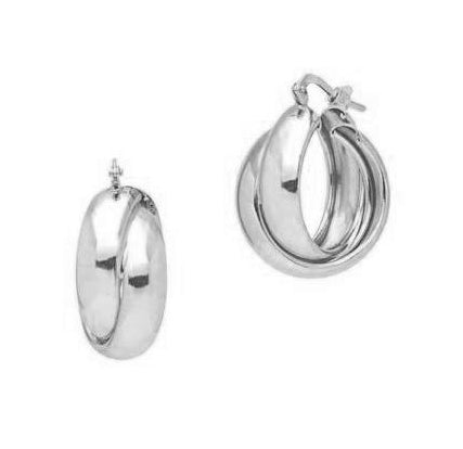 La LUCCA Huggies - The Hoop Station 925 Sterling Silver Hoop Earrings Gold Huggies