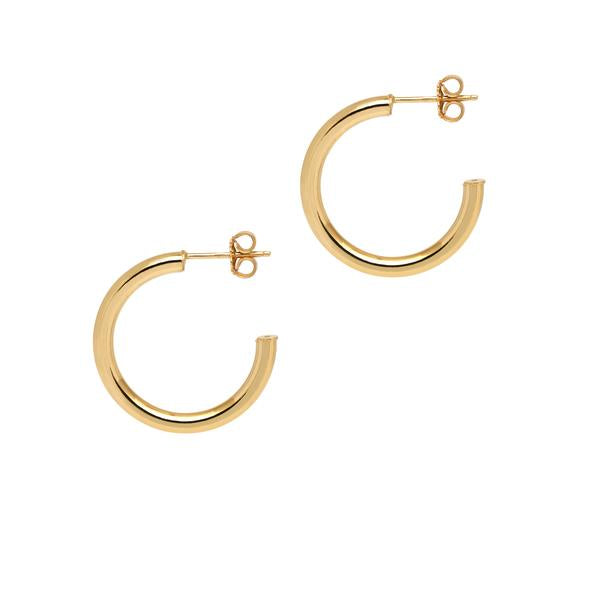 La NAPOLI Collection Gold - The Hoop Station 925 Sterling Silver Hoop Earrings Gold Huggies