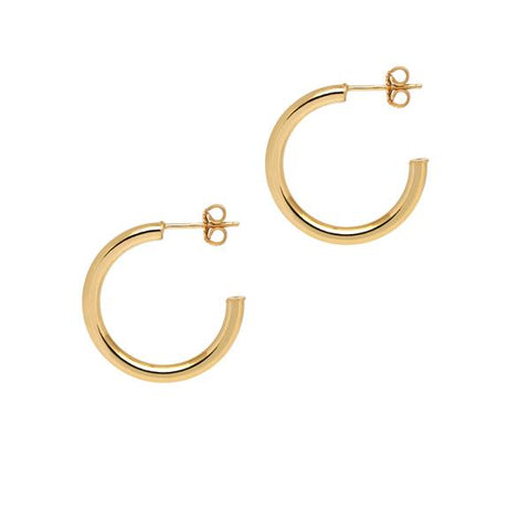 La NAPOLI Collection - The Hoop Station 925 Sterling Silver Hoop Earrings Gold Huggies