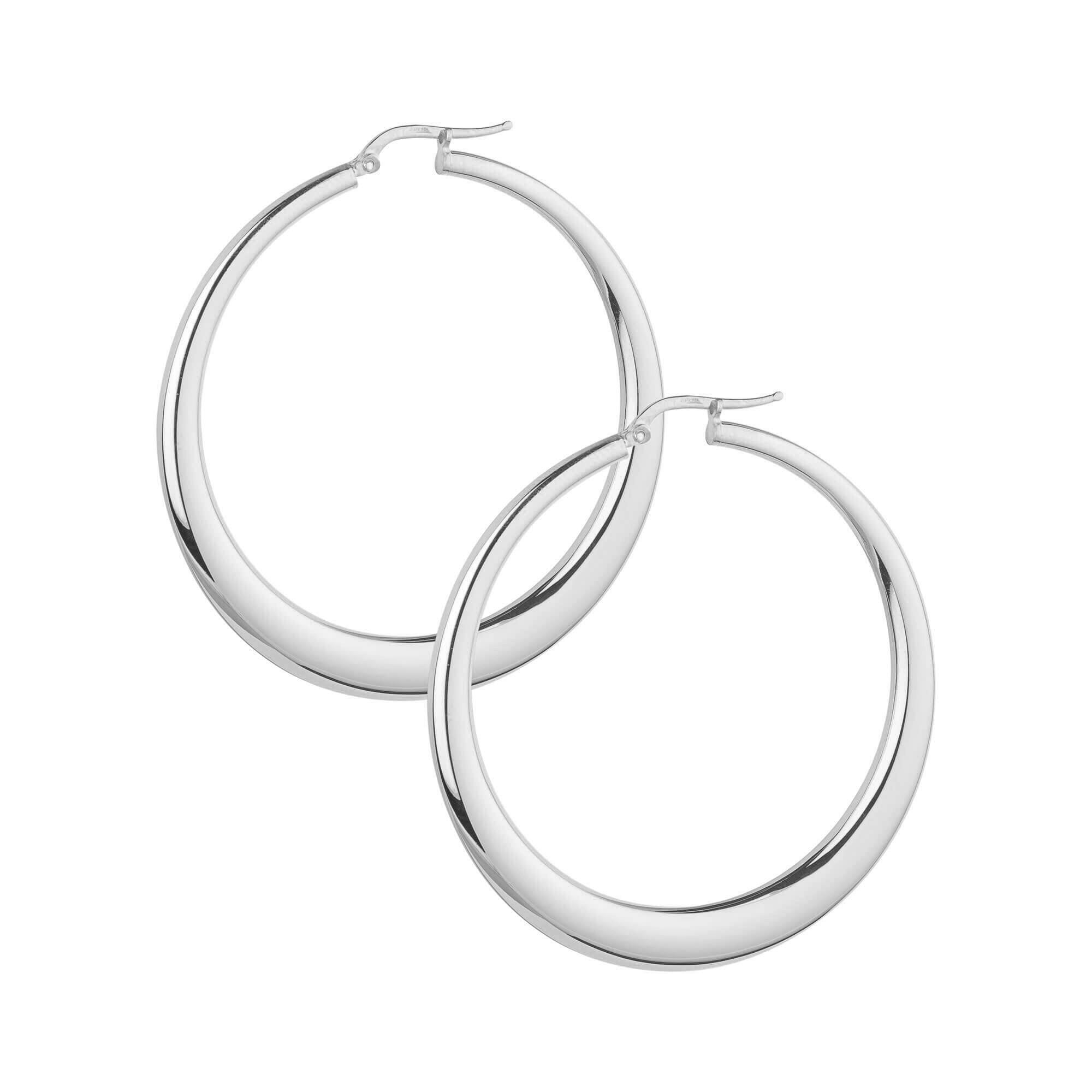 La PORTOFINO Gold - The Hoop Station 925 Sterling Silver Hoop Earrings Gold Huggies