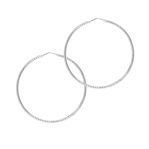 La ROMA Large Silver - The Hoop Station 925 Sterling Silver Hoop Earrings Gold Huggies