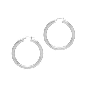 La SATINA ROTUNDO - Silver - The Hoop Station 925 Sterling Silver Hoop Earrings Gold Huggies