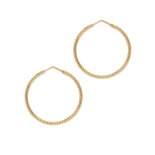 La ROMA Small - The Hoop Station 925 Sterling Silver Hoop Earrings Gold Huggies