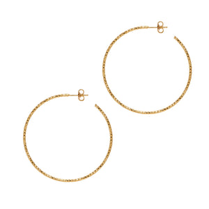 La SARDEGNA - The Hoop Station 925 Sterling Silver Hoop Earrings Gold Huggies