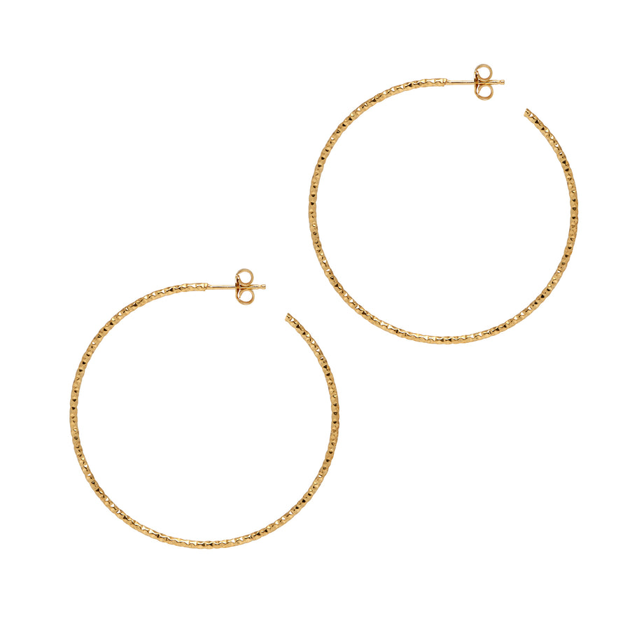 La SARDEGNA Gold - The Hoop Station 925 Sterling Silver Hoop Earrings Gold Huggies