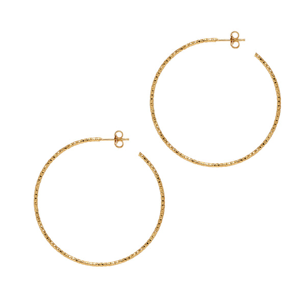 La SARDEGNA Silver - The Hoop Station 925 Sterling Silver Hoop Earrings Gold Huggies