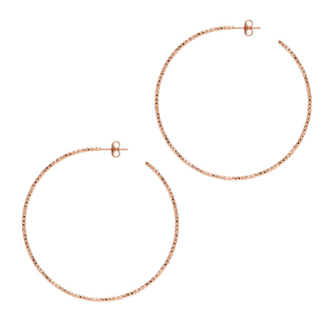 La SARDEGNA Rose Gold - The Hoop Station 925 Sterling Silver Hoop Earrings Gold Huggies
