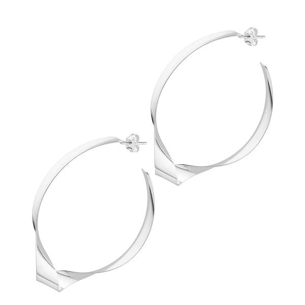 La TWIST RIBBON - Sale - The Hoop Station 925 Sterling Silver Hoop Earrings Gold Huggies