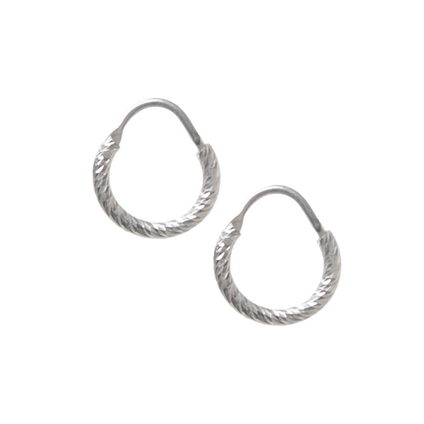 La ROMA Huggies - Silver - The Hoop Station 925 Sterling Silver Hoop Earrings Gold Huggies