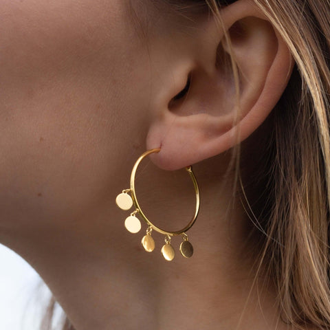 La DISCO CHARM Hoops - Gold