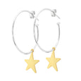 La STELLA Gold Medio Hoops