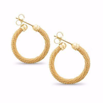 La FIESOLE Weave Gold - SALE - The Hoop Station 925 Sterling Silver Hoop Earrings Gold Huggies