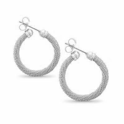 La FIESOLE Weave Silver - SALE - The Hoop Station 925 Sterling Silver Hoop Earrings Gold Huggies