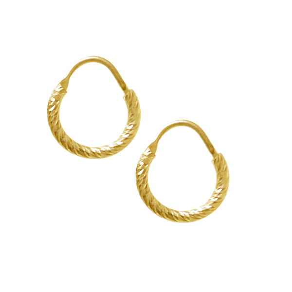 La ROMA Huggies - Gold - The Hoop Station 925 Sterling Silver Hoop Earrings Gold Huggies
