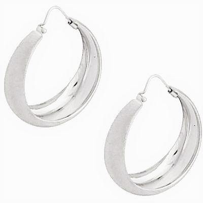 La CAMPANIA SATINA - Small - The Hoop Station 925 Sterling Silver Hoop Earrings Gold Huggies