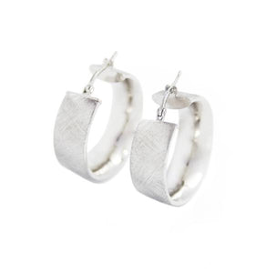 La SATINA CUFFS - Silver & Gold - The Hoop Station 925 Sterling Silver Hoop Earrings Gold Huggies