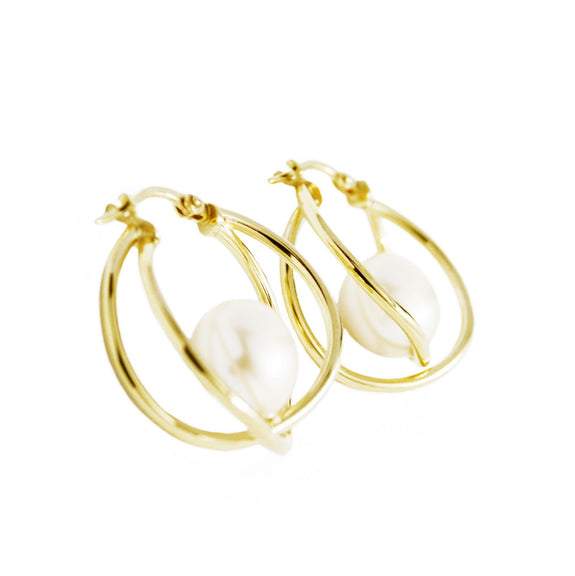 La MARKLE- Gold - The Hoop Station 925 Sterling Silver Hoop Earrings Gold Huggies