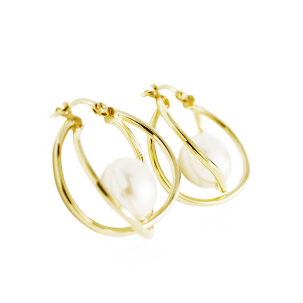La MARKLE Gold Piccolo Hoops
