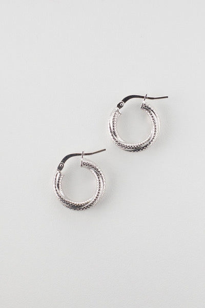 La MINI MILANO - SALE - The Hoop Station 925 Sterling Silver Hoop Earrings Gold Huggies