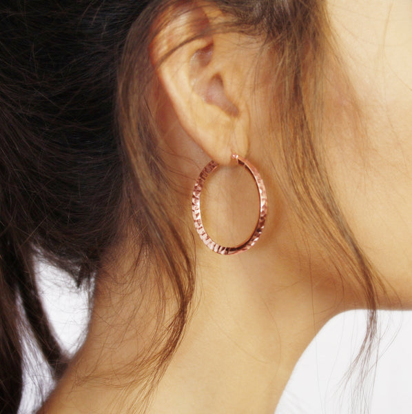 La SERPENTE - Rose Gold - The Hoop Station 925 Sterling Silver Hoop Earrings Gold Huggies