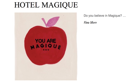 HOTEL MAGIQUE ON THE DIARY ISSUE