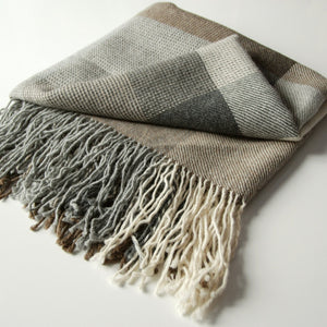 Design Plaid l Baby Alpaga l Beige, Taupe & Marron