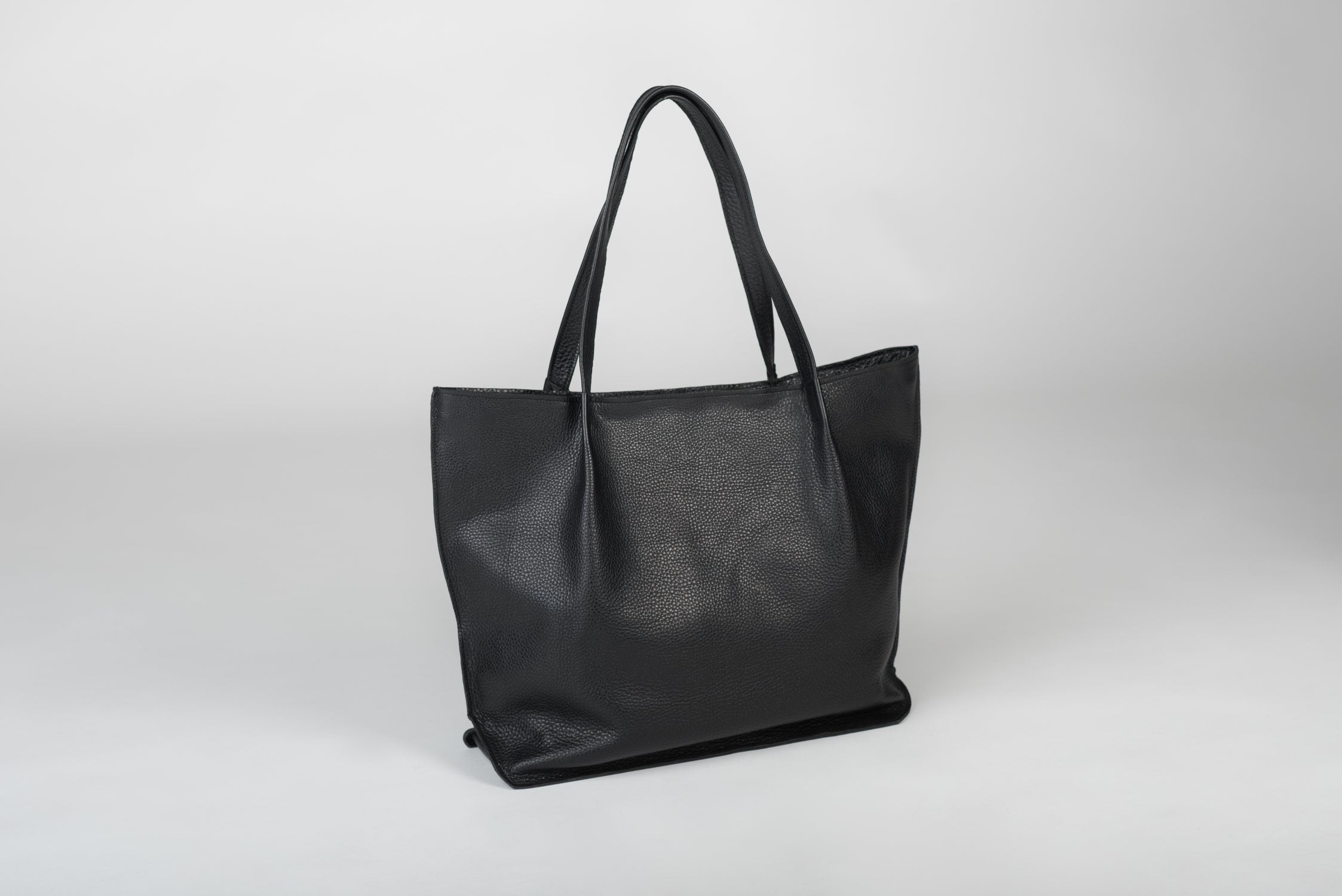 Handmade Black Leather Handbag - Ula