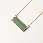 Load image into Gallery viewer, Hand made square ceramic necklace