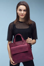 Load image into Gallery viewer, Cherry Colour Leather Bag | UDRAA
