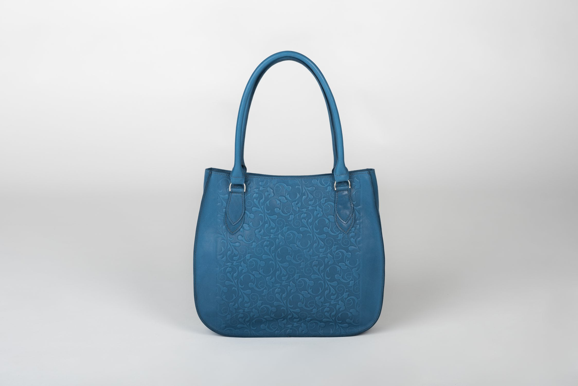Handmade Leather Bag in Blue - Venice