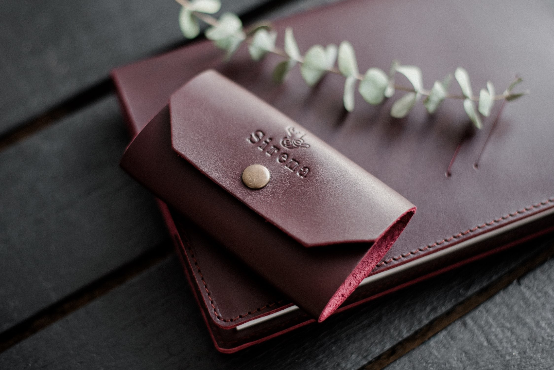 Handmade Leather Notebook and Keyholder