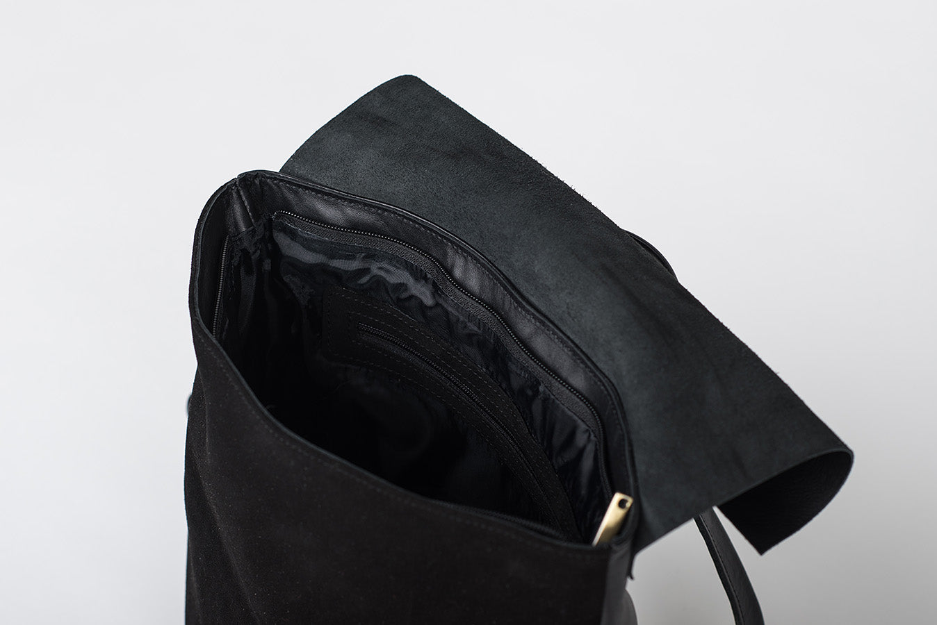Handmade Leather Backpack in Black - Geneva