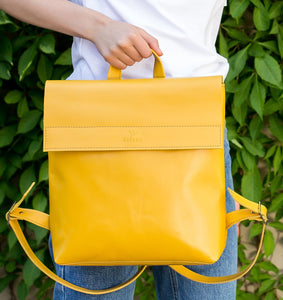 Yellow Leather Bag | UDRAA