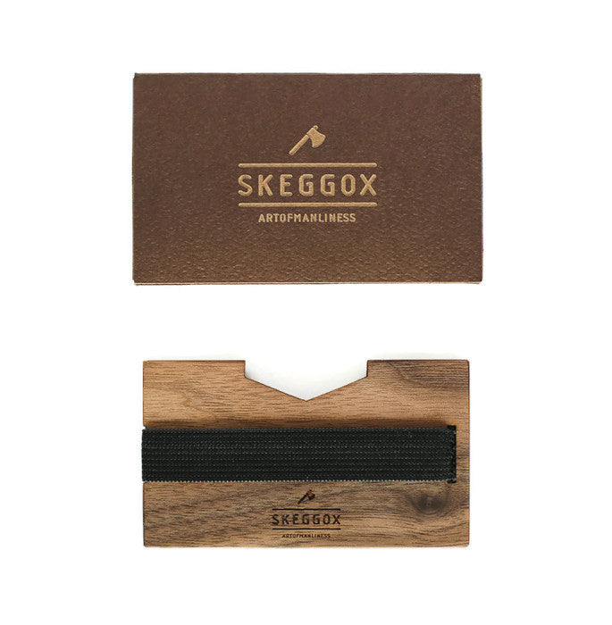 Hand made wooden wallet, card holder. Skeggox.