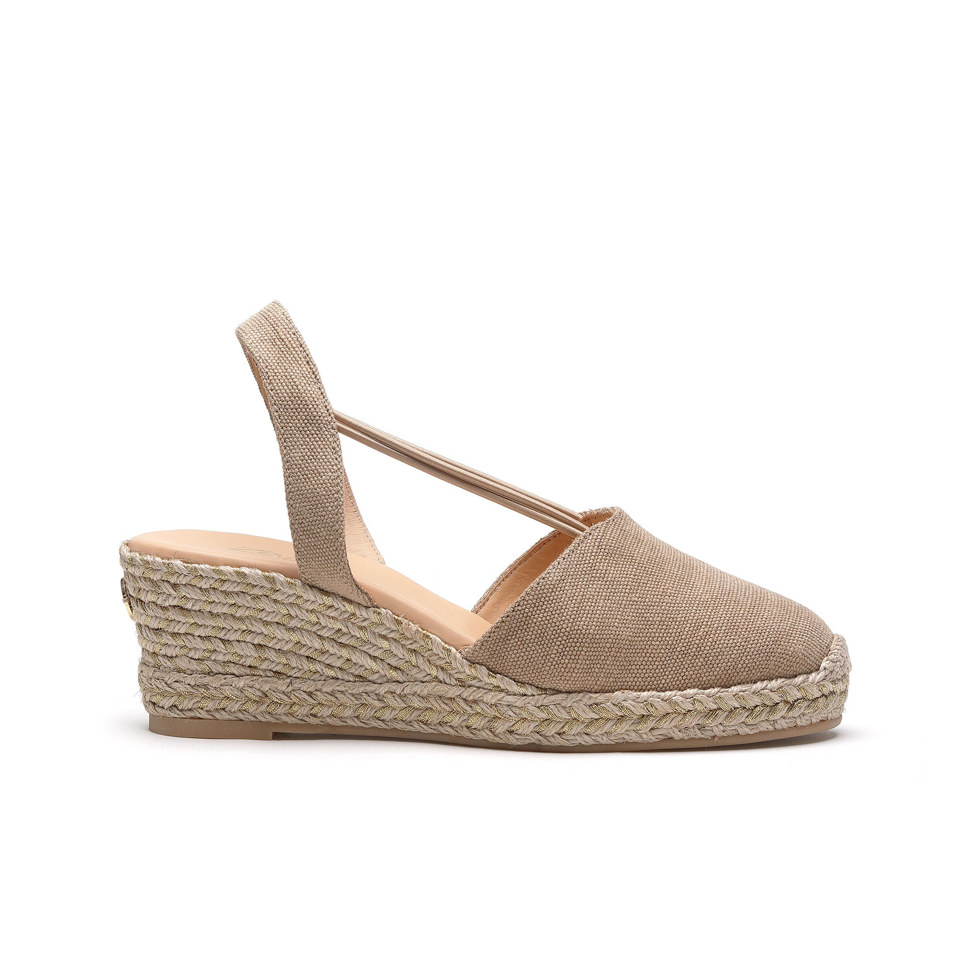 cheap prices quite nice promo codes Margarita Gold - low wedge espadrille – Zaccys London