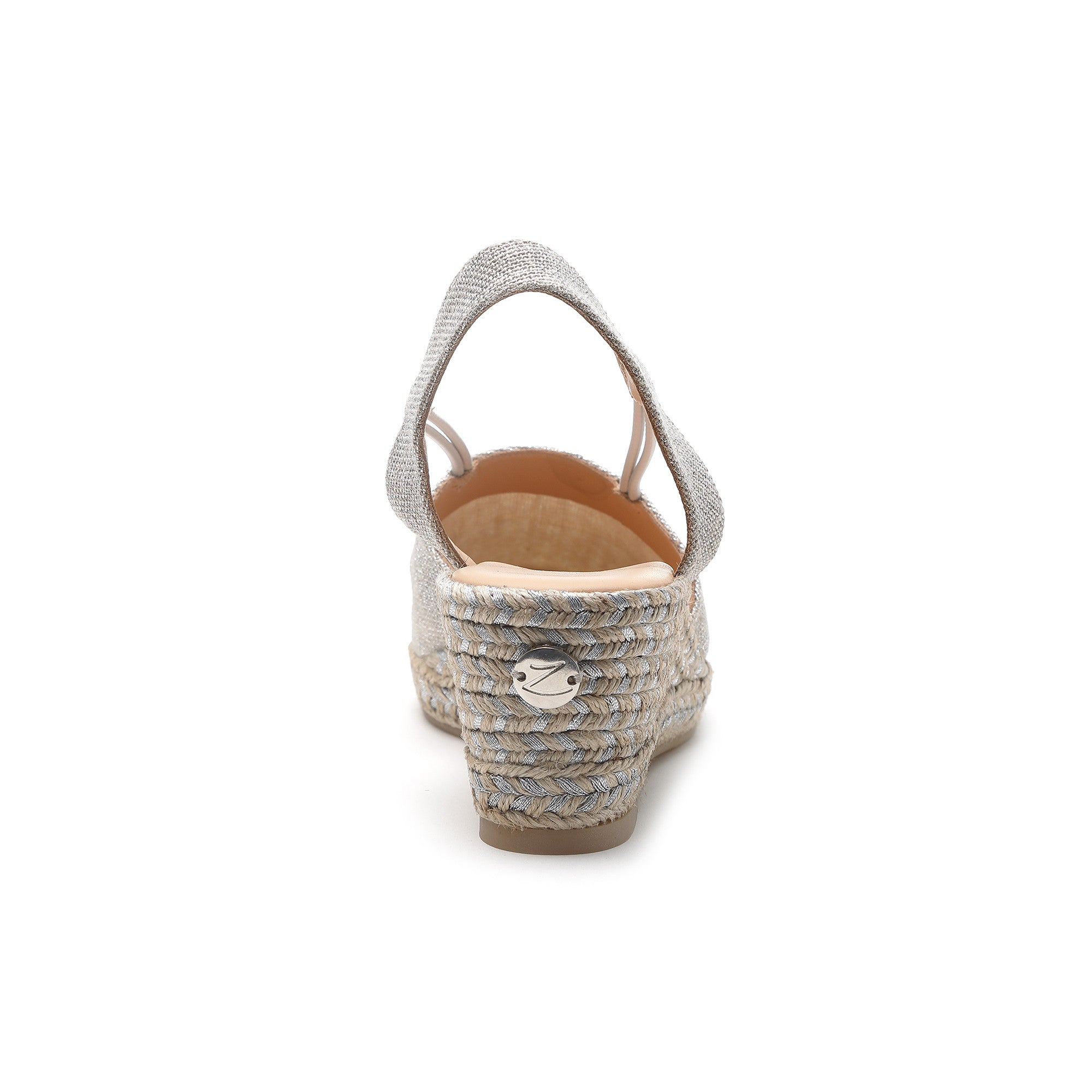 aa5a0ac2a66 Margarita Silver - low wedge espadrille – Zaccys London
