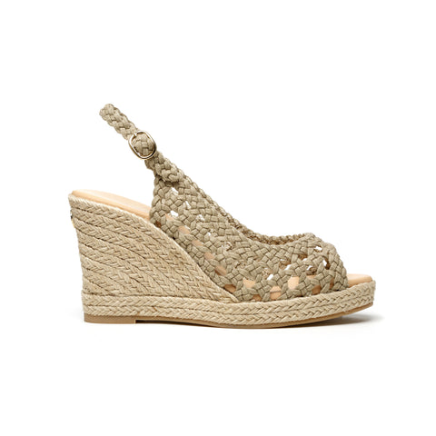 Ana Crochet - wedge sandal