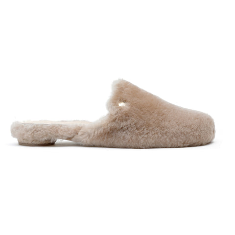 Cinderella Fluffy - sheepskin mule slide