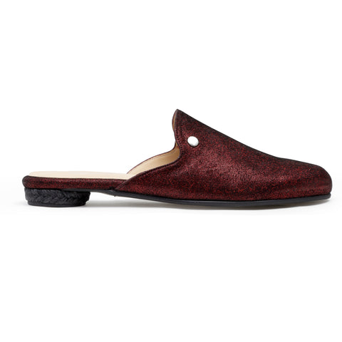 Cinderella Red - leather mule slide