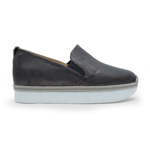 Elisabeta Black - platform slip-on trainer