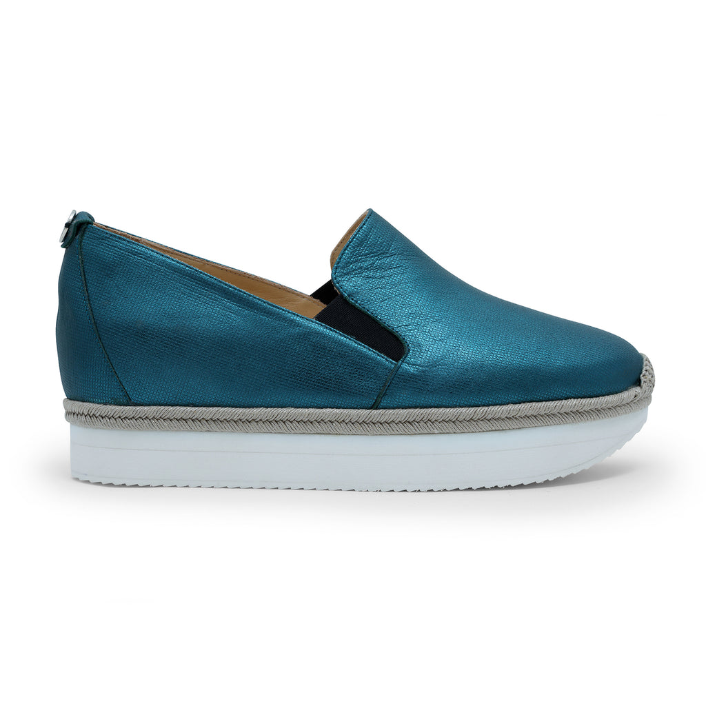 Elisabeta Teal - platform slip-on trainer