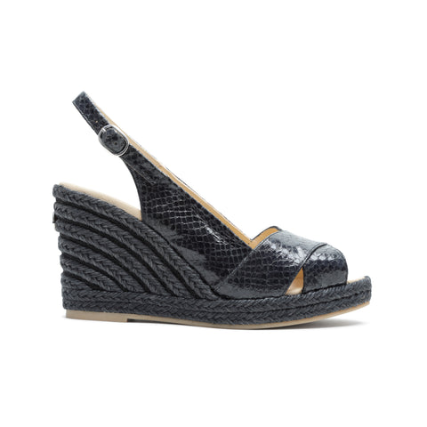 Giselle All Black - wedge sandal