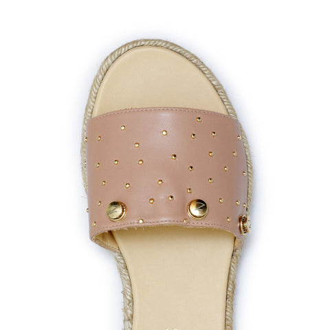 Sophia Gold - leather slide