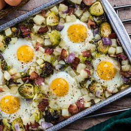All in One Sheet Pan Eggs Recipe