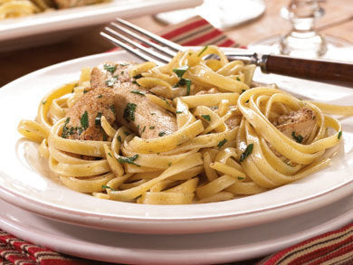 Browned Butter Chicken Fettuccine