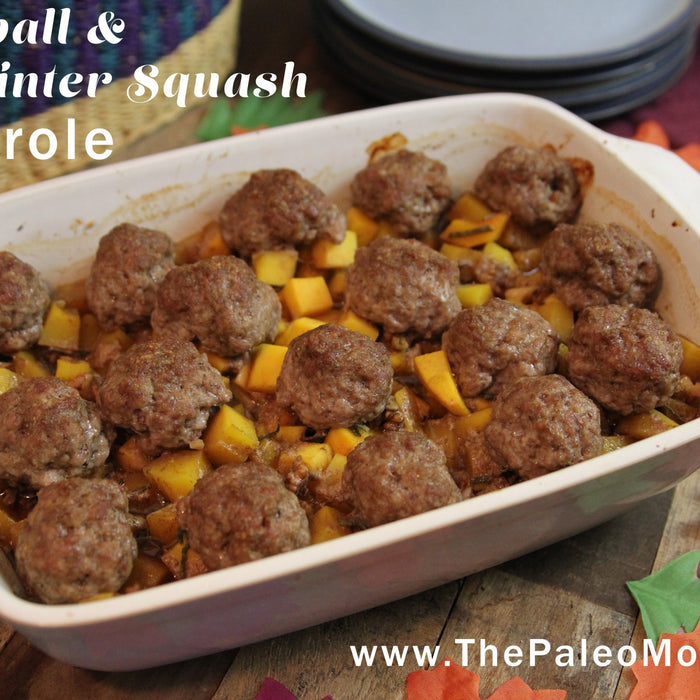 Meatball and Winter Squash Casserole, From The Paleo Mom.
