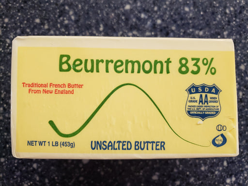 Beurremont 83% Butter Fat, UNSALTED - Bar Grass Fed / Block 16 oz - Circle C Farm